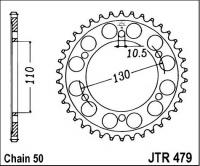 Duralová rozeta JTA0479, 45 zubů
