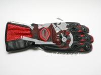 Celokožené rukavice Sperr, červeno,černo-bílé