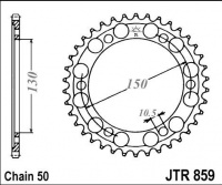 Rozeta YAMAHA FZR 1000 R (EX.) (řetěz 530), rv. 89-95