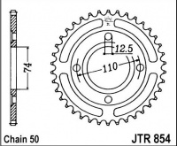 Rozeta YAMAHA XS 250 C Spoke Wheel, rv. do 78