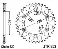 Rozeta YAMAHA TT 250 R (USA), rv. 99-06