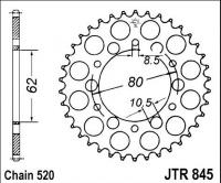 Rozeta YAMAHA XT 250 G,H,J,K,W,A,B (Austrálie), rv. 80-92