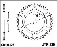 Rozeta YAMAHA DTR 125 (DT125R) (Francie), rv. 92-94