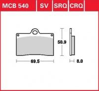 Přední brzdové destičky Ducati 900 SS (S), rv. 90-97