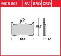 Přední brzdové destičky Honda VFR 750 R (RC30), rv. 88-89