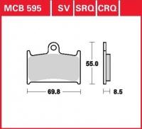 Přední brzdové destičky Yamaha FZR 750 R (OW01) (3PJ), rv. 89-93