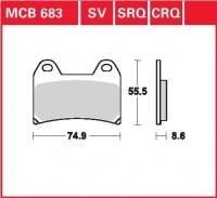 Přední brzdové destičky Ducati 800 Sport, Supersport (V5), rv. od 03