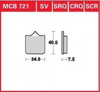Přední brzdové destičky Bimota DB7 1098, rv. od 08