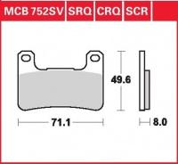 Přední brzdové destičky Suzuki GSXR 1000 (WVCL), rv. 07-08