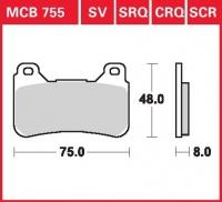 Přední brzdové destičky Honda CBR 600 RR (PC40), rv. 07-08