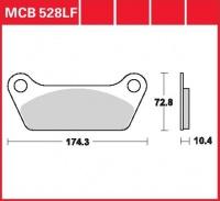 Zadní brzdové destičky Harley Davidson FLT 1340 80, rv. 80-81
