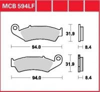 Zadní brzdové destičky Honda VFR 750 R (RC30), rv. 90-93