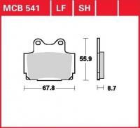 Zadní brzdové destičky Yamaha RD 500 LC (47X, 1GE), rv. 84-85
