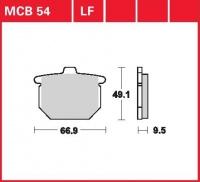 Zadní brzdové destičky Honda CB 750 F1 (RC04), rv. 80-81