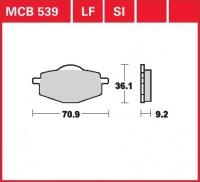 Zadní brzdové destičky Yamaha TDR 125 (Japan) (4GW1), rv. 93-99