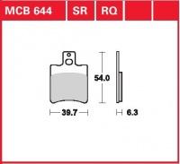 Přední brzdové destičky Aprilia RS 50 R, Extrema (HP), rv. 96-99