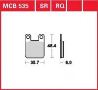 Přední brzdové destičky Derbi 50 Senda (Senda H), rv. 94-98