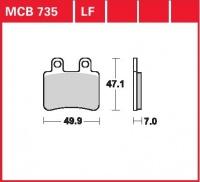 Zadní brzdové destičky Peugeot 125 Satelis ABS, rv. od 04