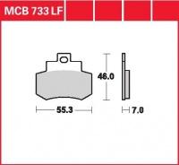 Zadní brzdové destičky Kymco 250 Grand Dink (S7), rv. od 00