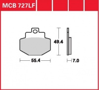 Zadní brzdové destičky Gilera VX 125 Runner Grimeca (M24), rv. od 01
