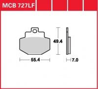 Zadní brzdové destičky Gilera VX 180 Runner 4T (Grimeca) (M24), rv. od 01