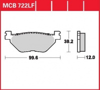 Zadní brzdové destičky Yamaha XP 500 T MAX (SJ01), rv. 01-03