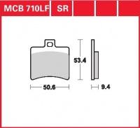 Zadní brzdové destičky Aprilia 125 Scarabeo, GT (PC), rv. 99-02
