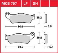 Zadní brzdové destičky BMW K 1200 GT Integral ABS (ohne Warnkabel), rv. od 06