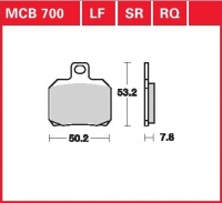 Zadní brzdové destičky Ducati 1098 R, S (H7), rv. od 07