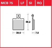 Zadní brzdové destičky Bimota SB 8 R 1000 , Speziale (SB8R), rv. 99-01