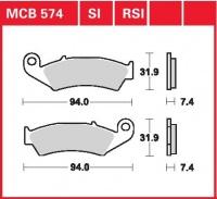 Přední brzdové destičky Husaberg 350, rv. 89-93