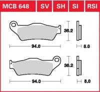 Přední brzdové destičky KTM SX 525 Racing, rv. od 04