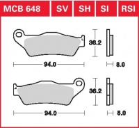Přední brzdové destičky KTM LC4-E 400 Enduro (KTM-4T-EGS), rv. od 99