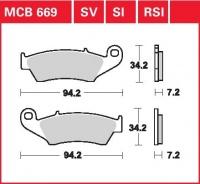 Přední brzdové destičky Suzuki RM 125 (RF15A), rv. 96-04