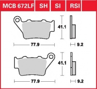 Zadní brzdové destičky KTM EXE 125 Super Enduro (KTM-2T-EXE), rv. od 00