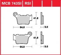 Zadní brzdové destičky Husqvarna TE/TC 450, rv. od 06