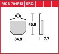 Přední brzdové destičky Honda CRM 450 (HM-Italy), rv. od 07