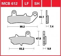 Zadní brzdové destičky Suzuki DR 650 RSE, RSEU (SP43B), rv. 91-96