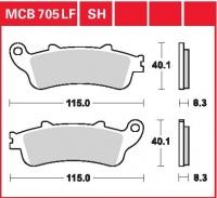 Zadní brzdové destičky Honda VFR 800 V-TEC, ABS (RC46), rv. 02-05