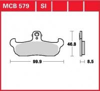 Přední brzdové destičky Cagiva WMX 250, rv. od 89