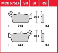 Zadní brzdové destičky Honda CR 250 R (ME03), rv. 95-01