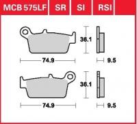 Zadní brzdové destičky Honda CR 125 R (JE01), rv. 87-94